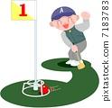盛大的高爾夫 室外 愛好 7183783