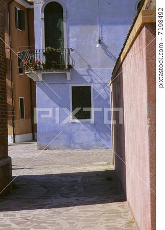Burano island street corner 7198492