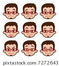 男性的面部表情集 7272643