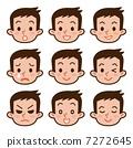 男性的面部表情集 7272645