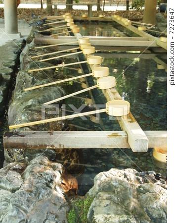 在熱田神社洗手 7273647