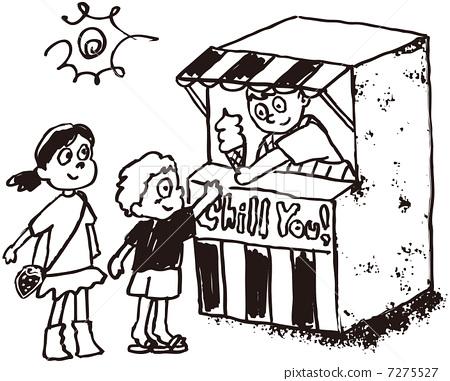 Ice Cream Shop Stock Illustration 7275527 Pixta