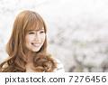 갈색 머리의 여성 인물 (야외) 7276456