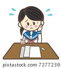 莎拉衣服學生測試麻煩 7277236