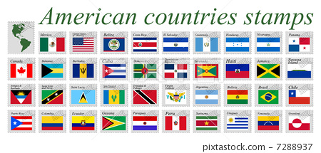 american countries stamps