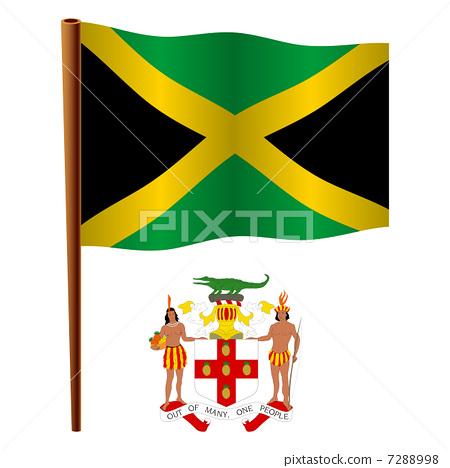 jamaica wavy flag 7288998