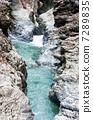 山溝 瀑布 河 7289835