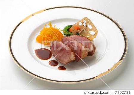 Hors d'Oeuvres開胃菜法國菜鴨肉料理菜餚西餐 7292781