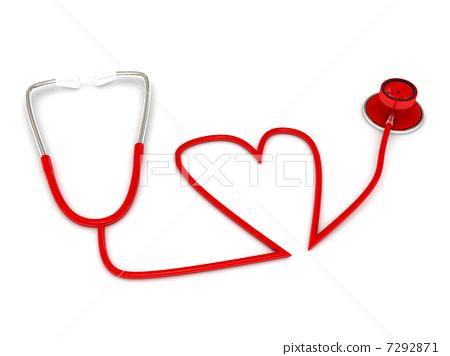 stethoscope over white 7292871