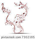 melody musical clef 7302165