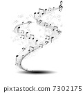 melody musical clef 7302175
