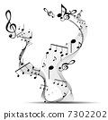 melody musical clef 7302202