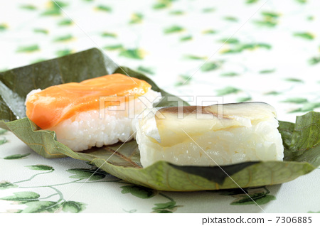 Persimmon leaf sushi · Salmon noodles Sushi 7306885