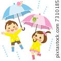 遮阳伞和儿童 7310185