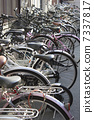 Bicycle parked in bicycle storage area 7337817