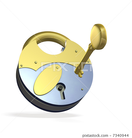 Abstract 3DCG illustration showing security 7340944