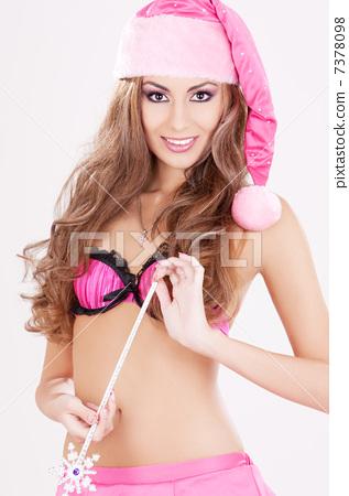 santa helper girl with magic wand 7378098