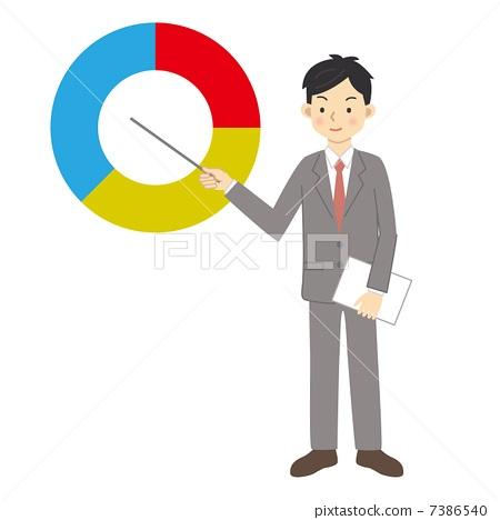 Pie chart businessman 7386540