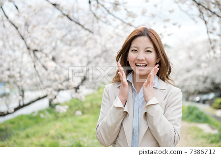 Sakura and business woman 7386712