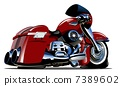 Vector Cartoon Motorbike 7389602