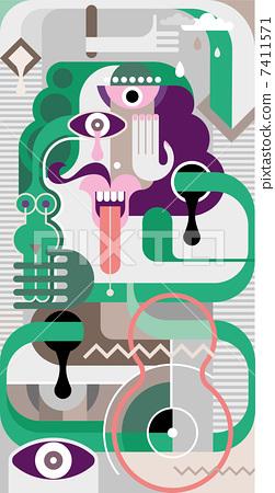 Abstract Art - vector illustration 7411571
