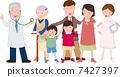 醫生,家庭成員和護士 7427397