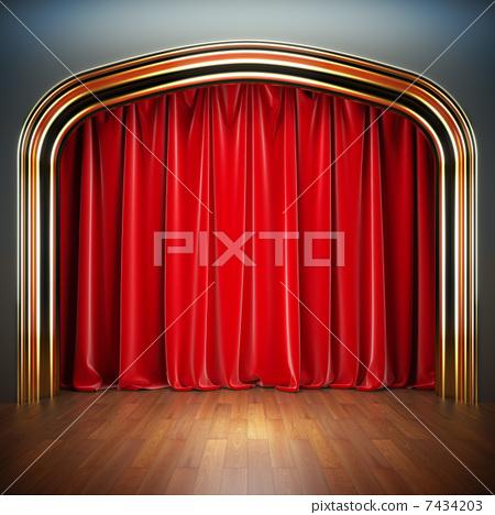 Empty stage. 7434203