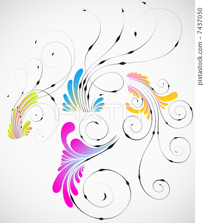 vector abstract flowers design collection 7437050