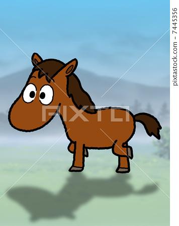 Walking horse 7445356