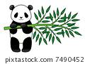 대나무를 가진 팬더 7490452