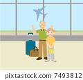 노인, 공항, 부부 7493812
