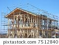 房子建筑工地木房子 7512840