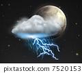 雷暴 闪电般的 快速的 7520153