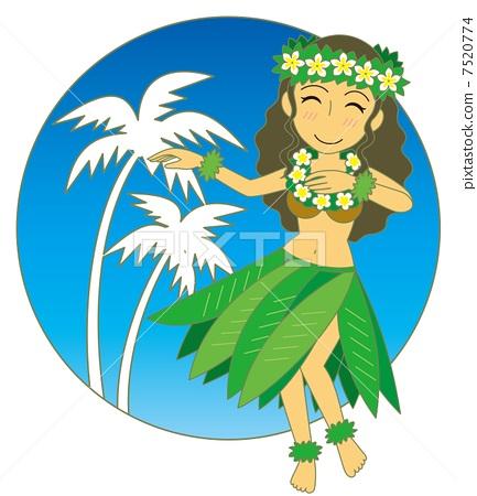 Hula Dance Tea Reef blue sky 7520774