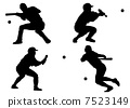 blow, knock-out, strike ball with bat 7523149