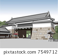 nijo castle, higashiote gate, world heritage 7549712