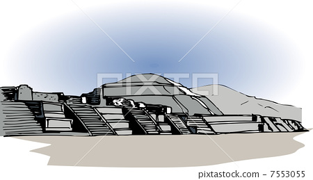 Teotihuacan remains 7553055