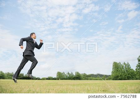 Running businessman 7562788