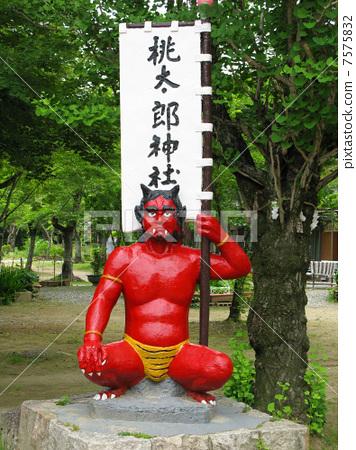 Momotaro Shinto red demon doll 7575832