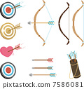 bow and arrow, target, mark 7586081