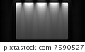 Creative wooden background. Blank white banner Inside a room 7590527