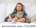 cat, pet, child 7591446