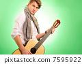 musical, guitar, male 7595922