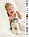 cat, pet, girl 7597856