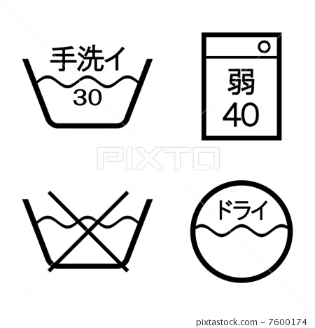 Laundry indication mark 7600174