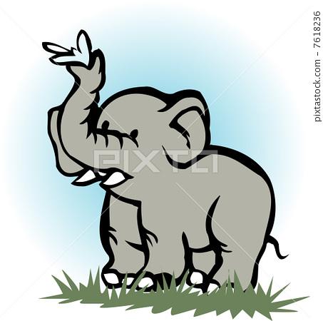 elephant 7618236