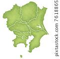 관동 지방, 간토 지방, 지도 7618865