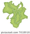 지도, 킨키 지방, 긴키 지방 7618916
