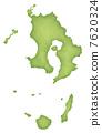 가고시마 현의지도 7620324