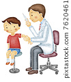Doctor injecting to children 7620461